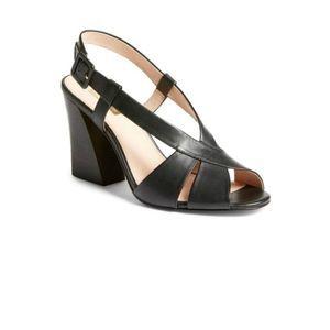 Louise et Cie Kalee black leather block heels